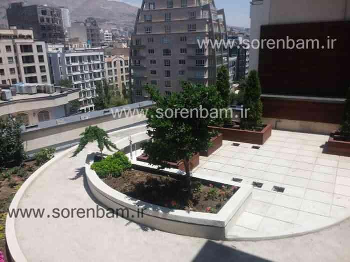 بام سبز|محوطه سازی روی بام |roofgarden