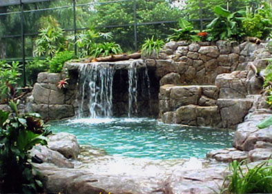 آبنما با طراحی آبشاری