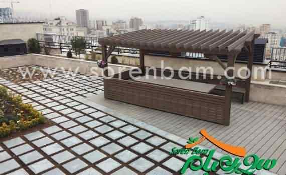 طراحی باغ روی پشت بام