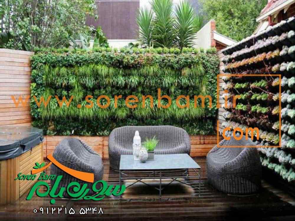 عکس دیوار سبز