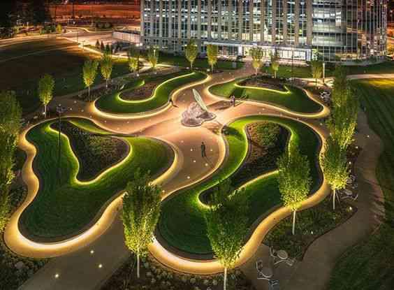 طراحی فضای سبز سبک مینیمال
