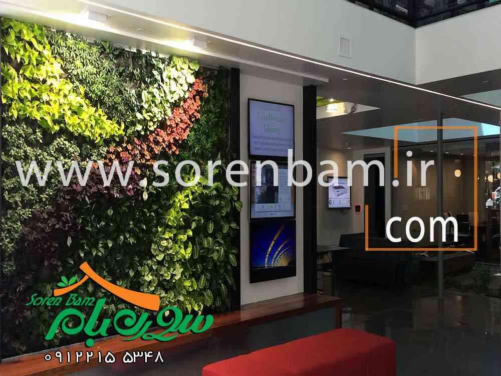 دیوار سبز در فضای خانه