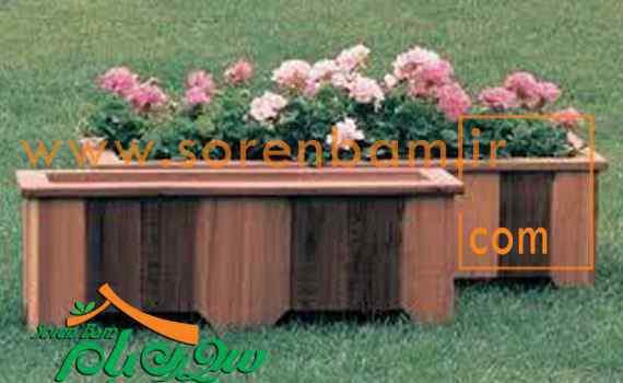 طراحی فلاور باکس چوبی