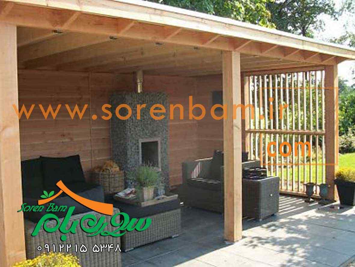 طراحی آلاچیق چوبی/آلاچیق فلزی