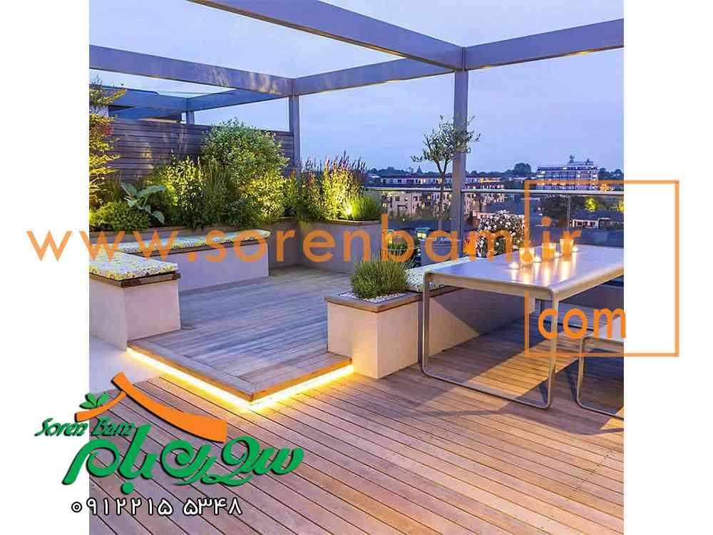 طراحی بام سبز،روف گاردن