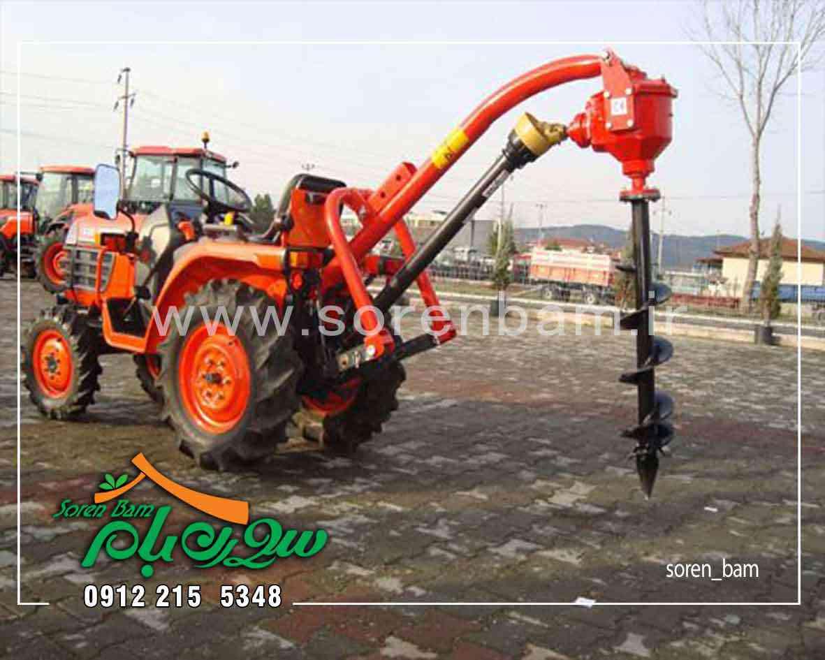 حفر چاه آب با تراکتور