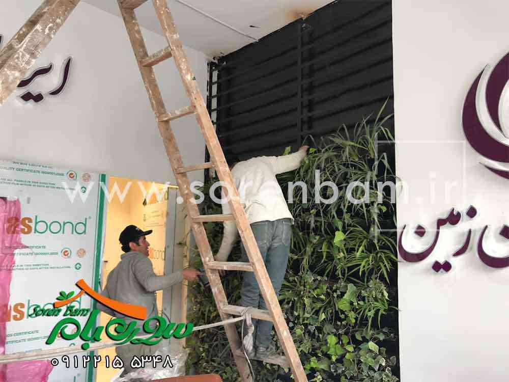 دیوارسبز بانک ایران زمین(جنب آباد)