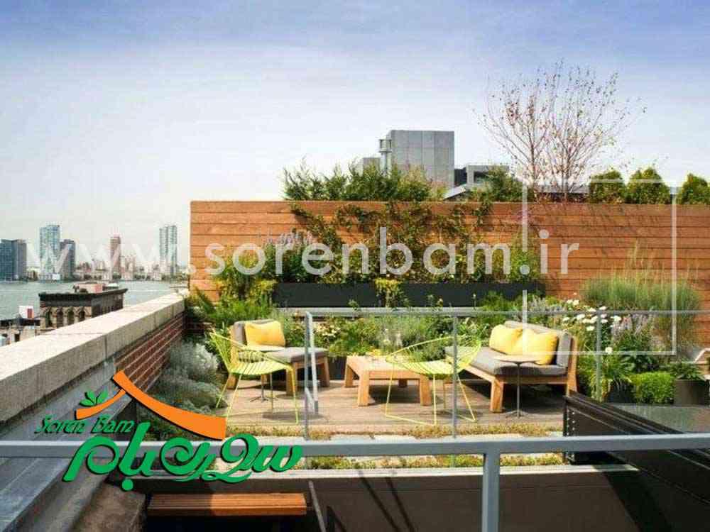 طراحی و اجرای بام سبز