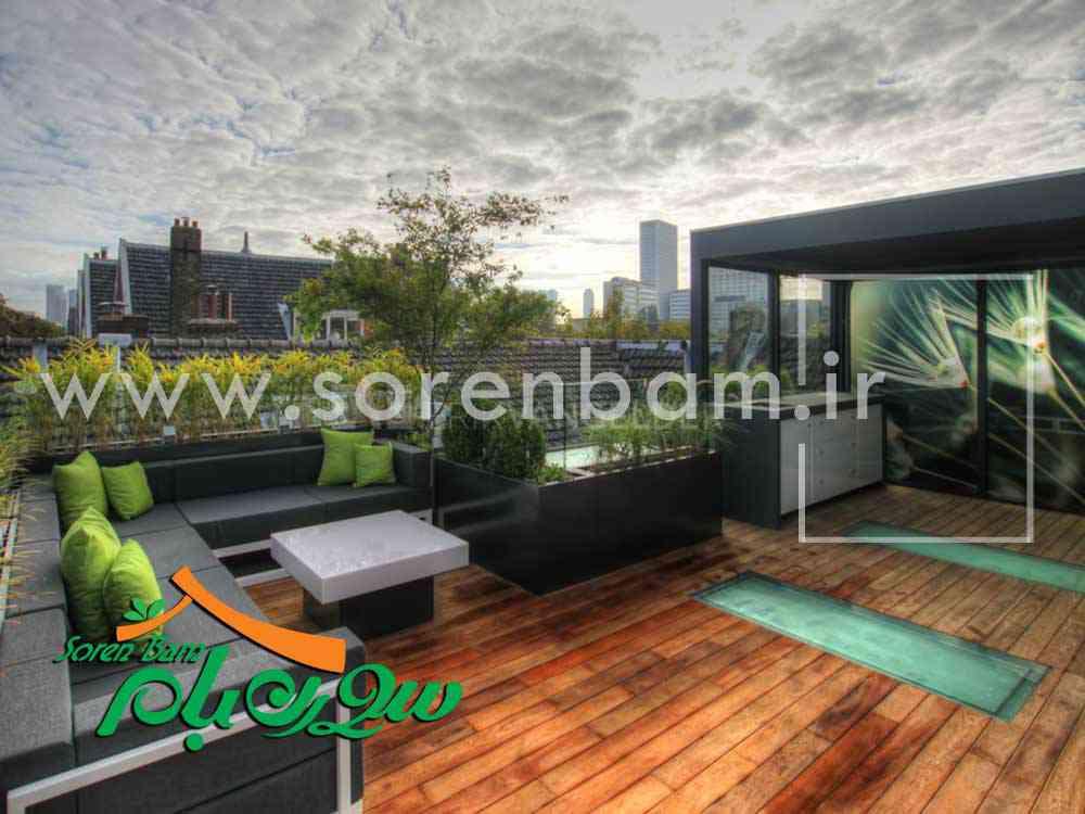 طراحی و اجرای بام سبز مدرن تخصصی