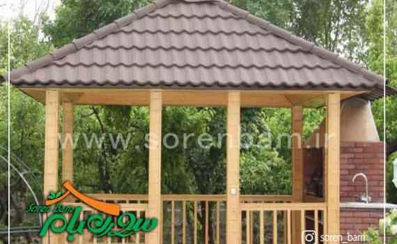 طراحی آلاچیق چوبی ، آلاچیق فلزی