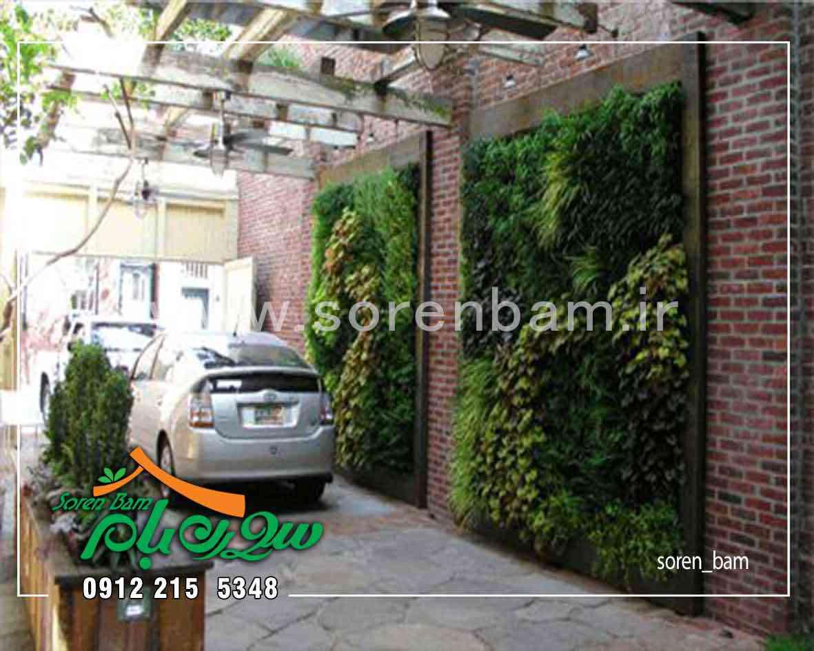 اجرای دیوار سبز کابلی در پارکینگ