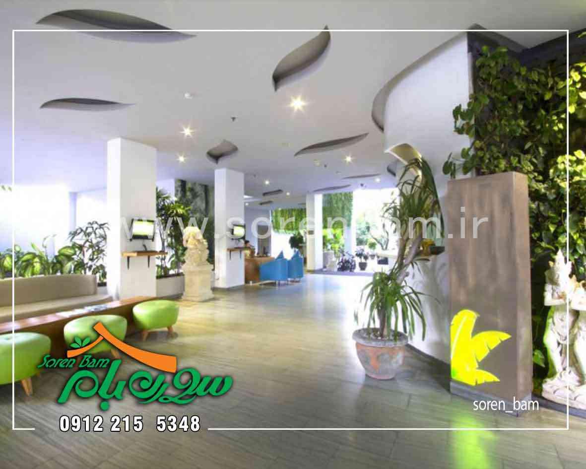 اجرای دیوار سبز در لابی ساختمان