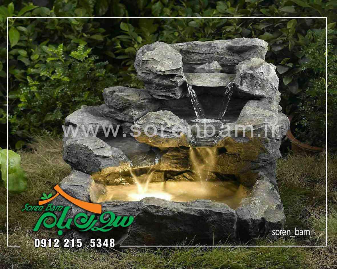 اجرای آبنمای صخره ای در باغ