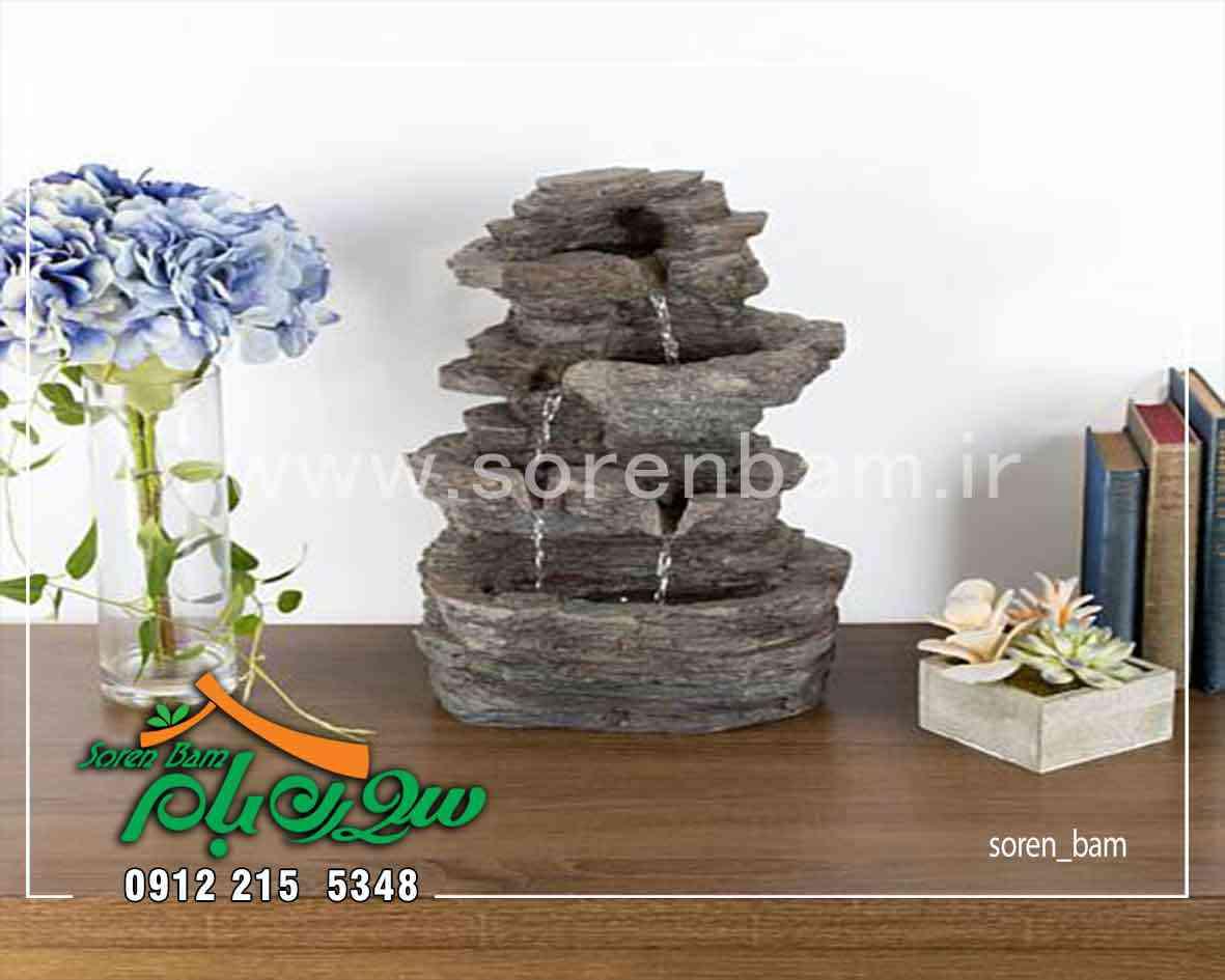 آبنما صخره ای سنگی در ابعاد کوچک رومیزی