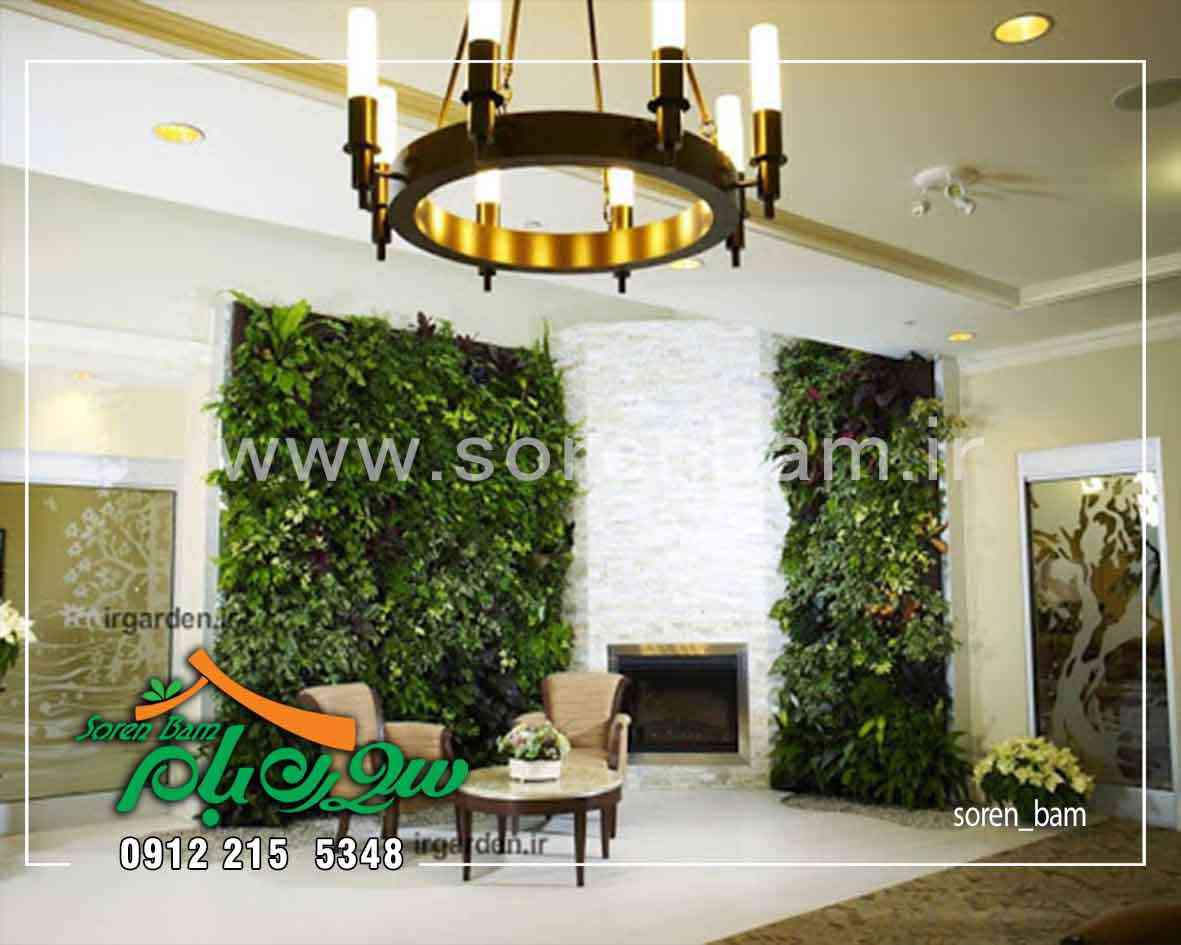 دیوار سبز در فضای داخلی