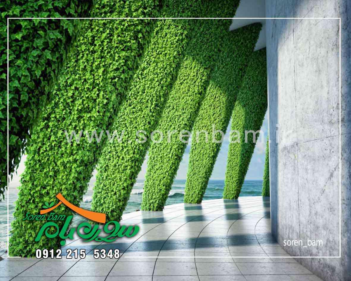 طراحی و اجرای فضای سبز عمودی سورن بام