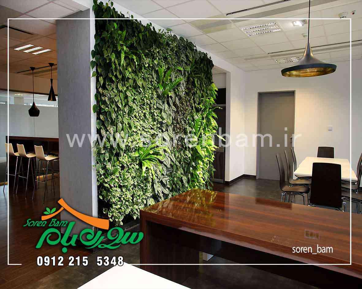 اجرای دیوار سبز مصنوعی در شرکت اداری