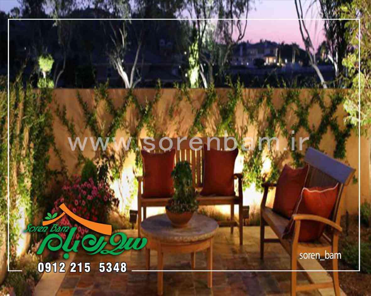 دیوار سبز طبیعی در محوطه سازی ویلا