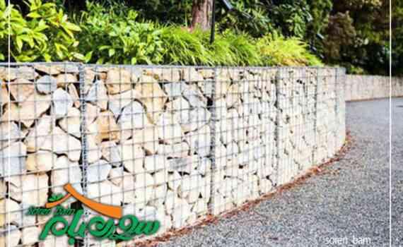 قلوه سنگ رود خانه ای در گابیون