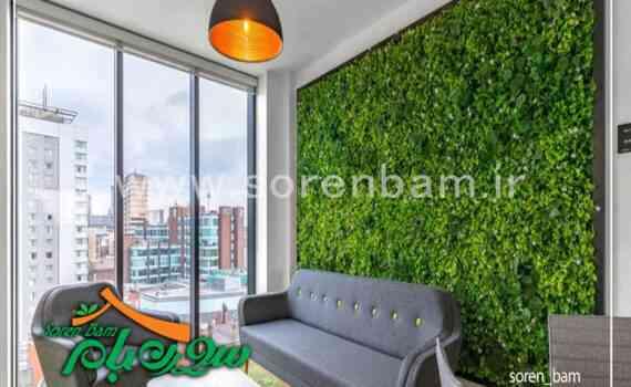 اجرای دیوار سبز طبیعی در فضای داخلی شرکت