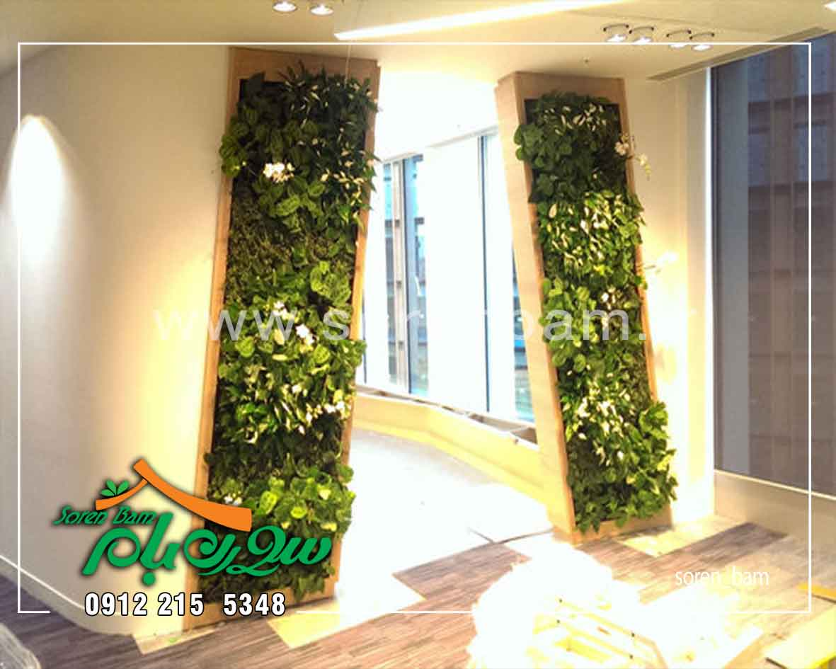 اجرای دیوار سبز در ورودی ساختمان