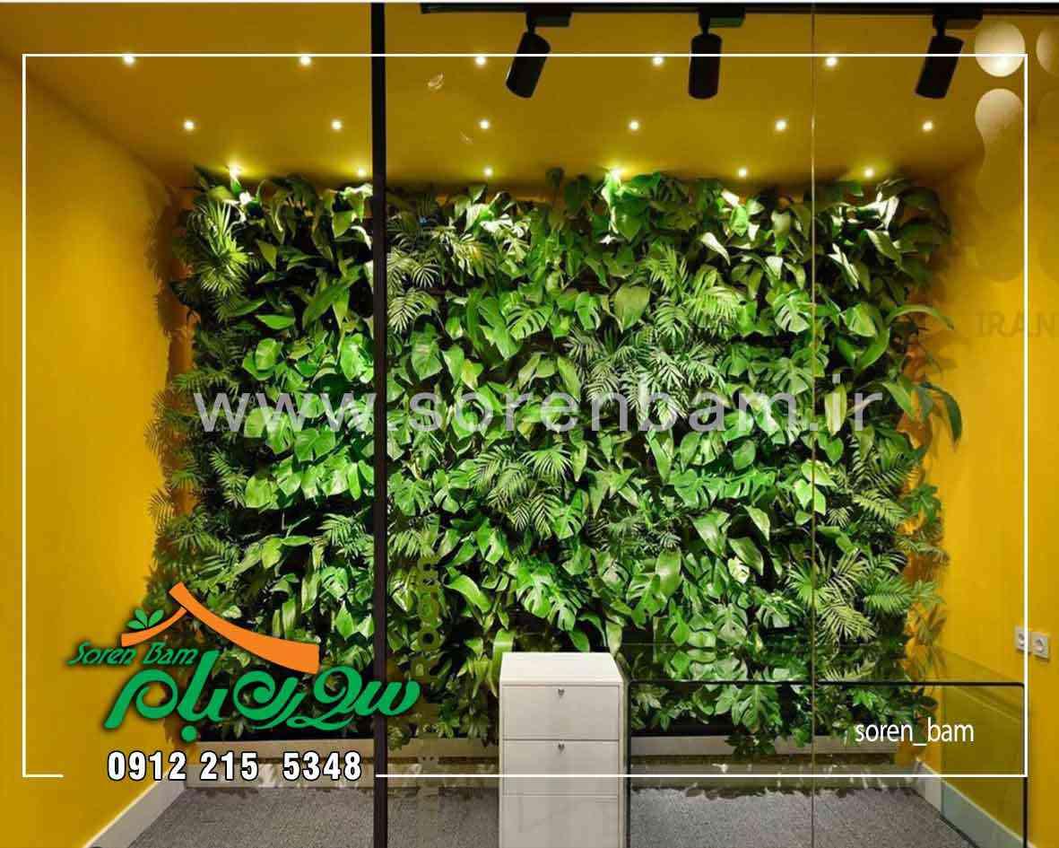 دیوار سبز مصنوعی و پوشش گیاهی آن