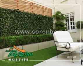 اجرای دیوار سبز و چمن مصنوعی در روف گاردن