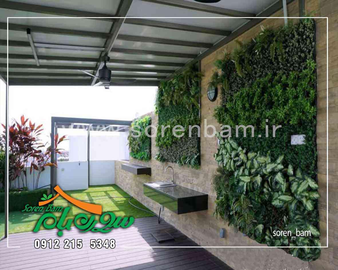 اجرای دیوار سبز بر روی دیوار روف گاردن