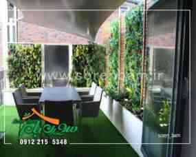 اجرای دیوار سبز در روف گاردن