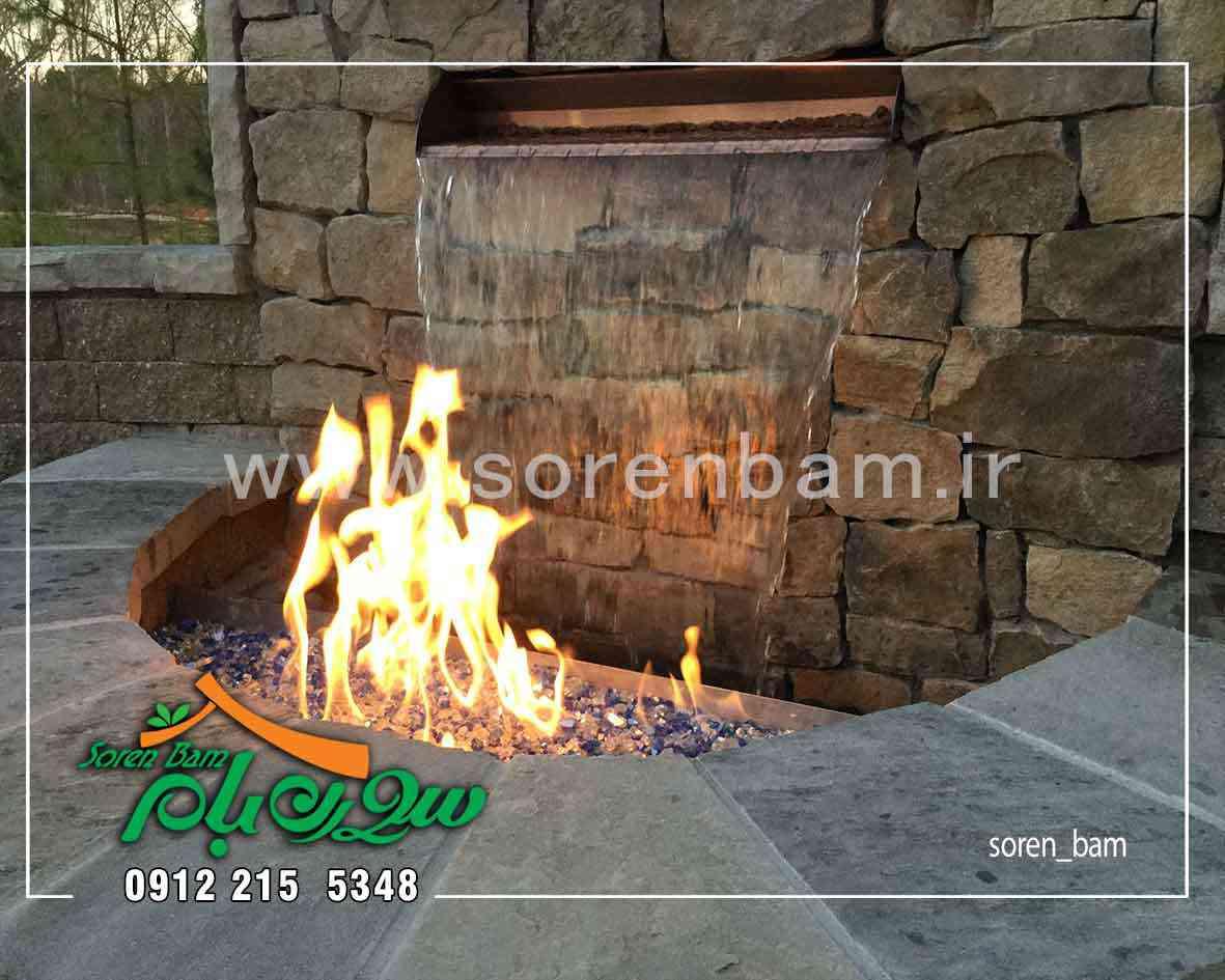 آبنما آب و آتش در محوطه سازی