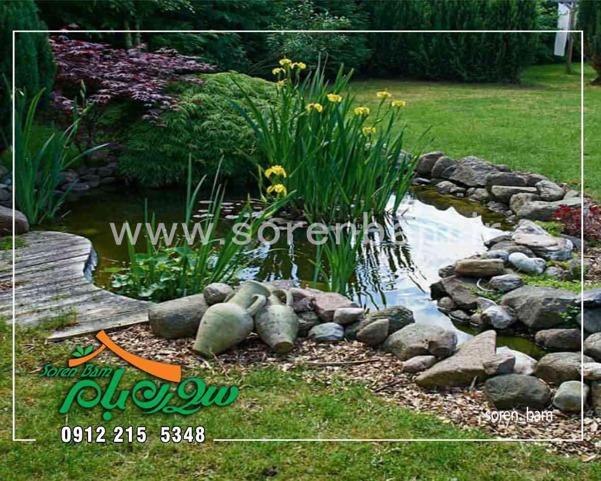 محوطه سازی قسمتی از باغ