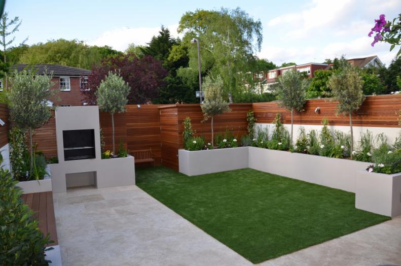 خلاقیت در محوطه سازی باغ